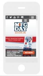 MfgDay.com on Smartphone