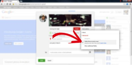 How To Make A Google+ Event Public