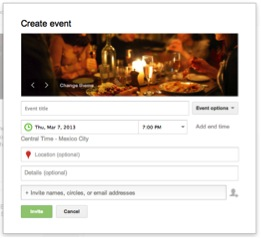 Google Events Set Up Page