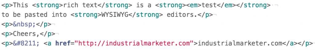 WordPress Markup