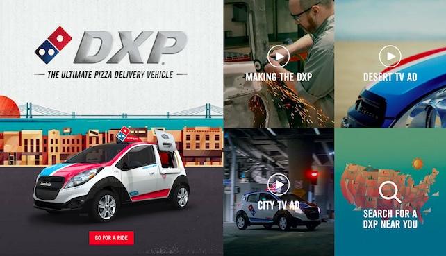 Dominos DXP Microsite
