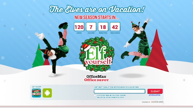 Elf Yourself Microsite