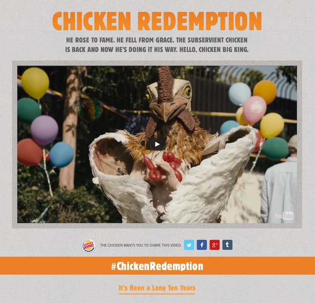 Subservient Chicken Microsite