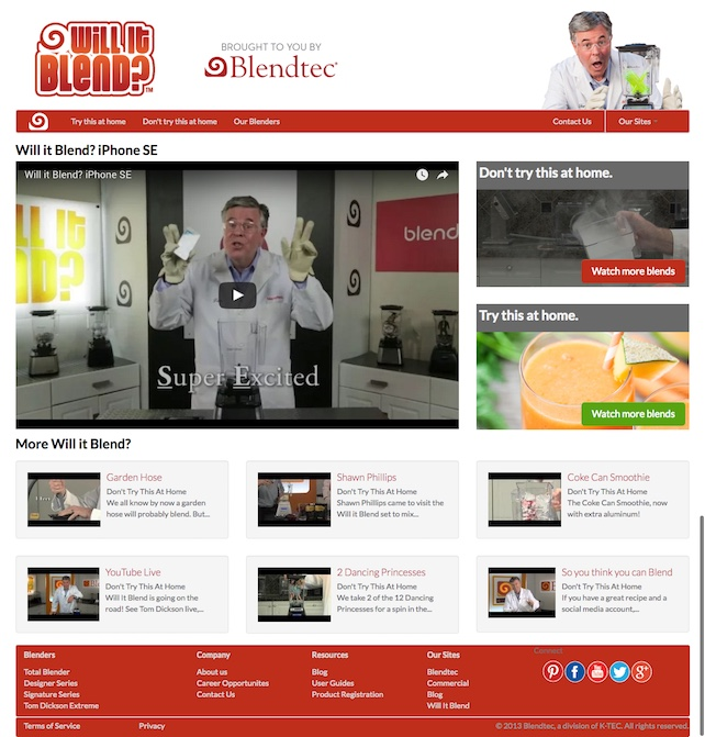 Will It Blend? Microsite